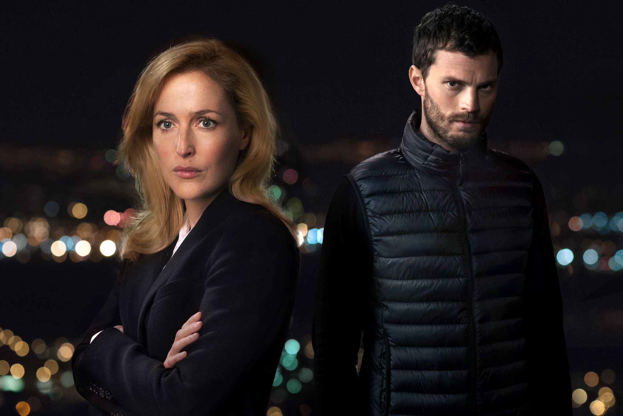 "TV STILL -- DO NOT PURGE -- Gillian Anderson and Jamie Dorman from ""The Fall"" season 2. Photo courtesy of Netflix"
